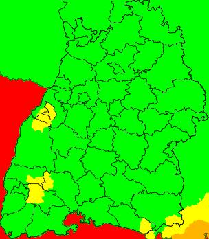 Aktuelle Unwetterwarnungen Baden-Württemberg