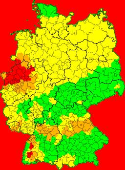 Aktuelle Unwetterkarte Deutschland