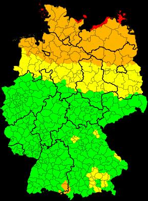 Aktuelle Unwetterwarnungen | Deutschland