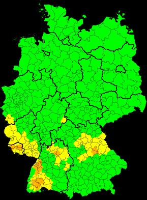 Aktuelle Unwetterwarnungen   Deutschland